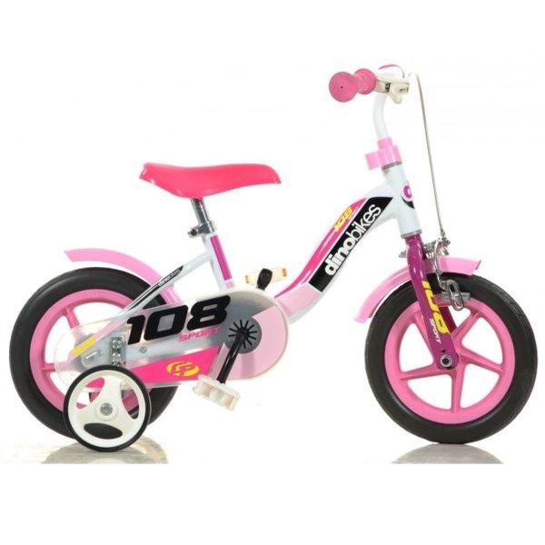 Колело Dino girl pink 10''